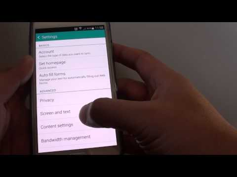 Samsung Galaxy S5: How to Enable/Disable Internet Browser Block Popup