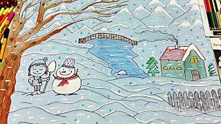 winter season drawing for class 2 Videos - 9tube tv