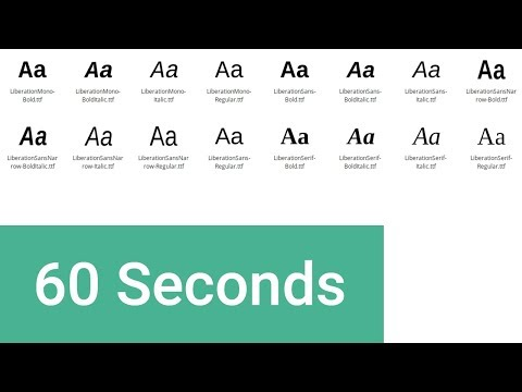Web Fonts in 60 Seconds