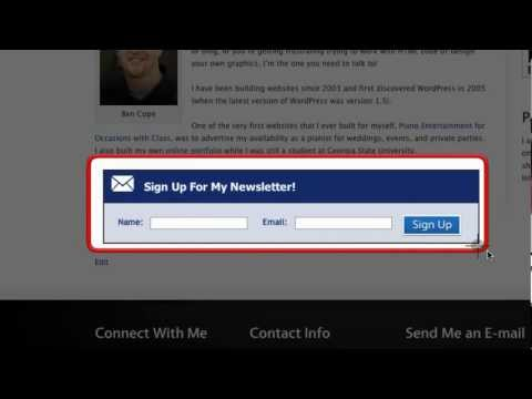 How to Create a Horizontal AWeber Opt-in Form