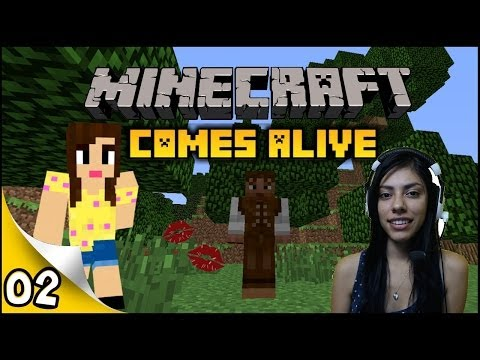 Minecraft Comes Alive - Ep 2 - Flirting with the Farmer!