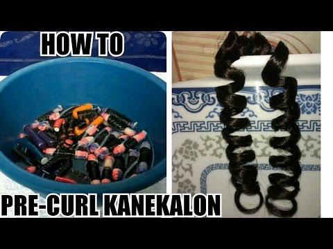 How To Pre-curl Outré Kanekalon Hair For Crochet Braids