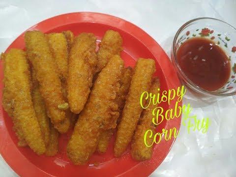 Recipe of Crispy Baby Corn Fry I Golden Fried Baby Corn I