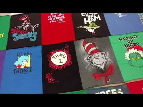 Dr Seuss T-Shirt Quilt Part Three - How TO MAKE one