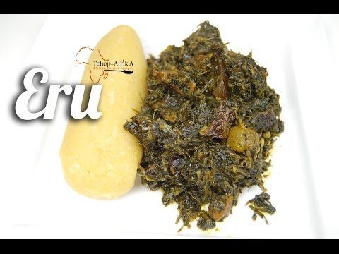 Eru or okasi recipe (south-west Cameroon)