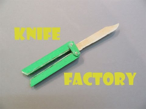 How to Make a Butterfly Knife with Pop Stick - Easy Tutorials