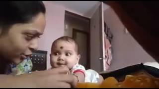 Small cute marathi baby laughing while nail cutting must watch