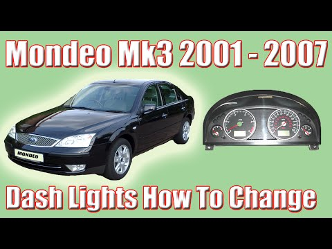 Part 1 Ford Mondeo MK3 How To Change The Dash Lights And Removing The Clocks