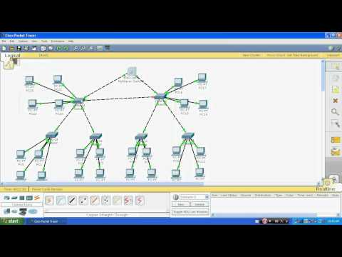 VLAN , VTP & DHCP on cisco switch through Packet Tracer 5.3 part 1
