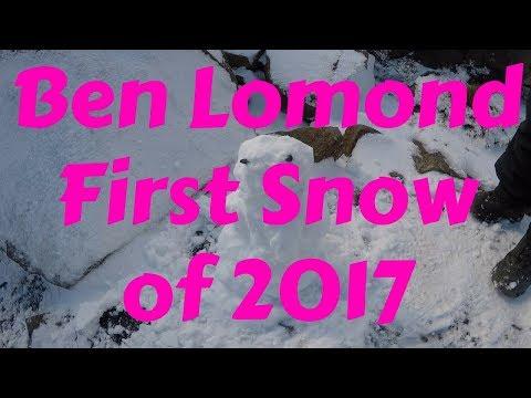 Snow on Ben Lomond, May 2017
