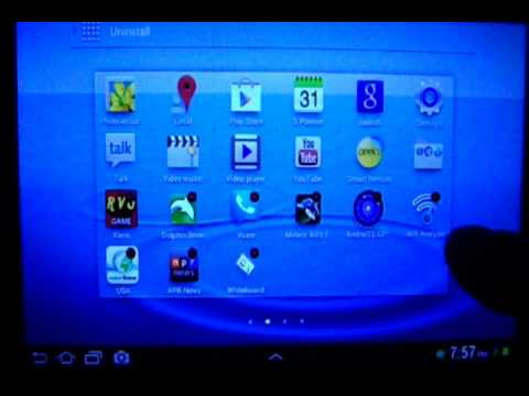 How To Uninstall Android Apps ( Android 4.0 Samsung Galaxy Tab 2 7