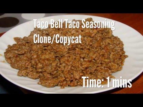 Taco Bell Taco Seasoning Clone/Copycat Recipe