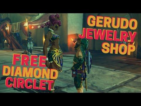 Gerudo Jewelry Shop & Free Diamond Circlet Zelda BOTW