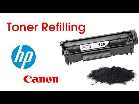 HP TONER REFILLING 12A / Canon 303 - TONER FILLING VIDEO