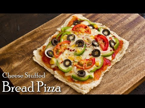 Cheese Stuffed BIG Bread Pizza on Tawa | Bread Pizza Recipe | Tawa Pizza ~ The Terrace Kitchen