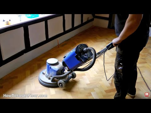 Sanding and Refinishing Parquet Floors (whole process)