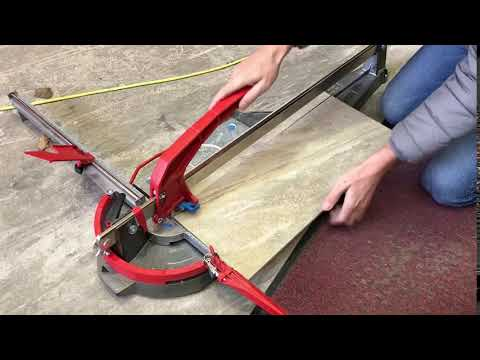How to cut fragile stone looking porcelain tile