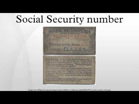 Social Security number