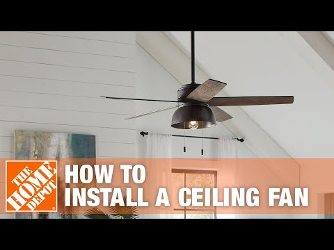 How To Replace or Install a Ceiling Fan - The Home Depot