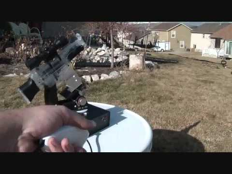Wii nunchuck controlled airsoft