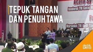 Meriahnya Pisah Sambut Panglima TNI dan Cerita Hadi Kejedot Tiang