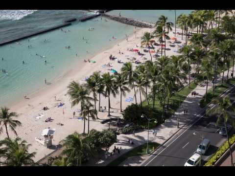 4k timelapse Waikiki beach activity