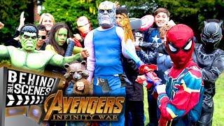 Avengers Infinity War Kids Parody! - Behind The Scenes