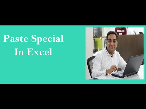 Paste Special in Excel Hindi