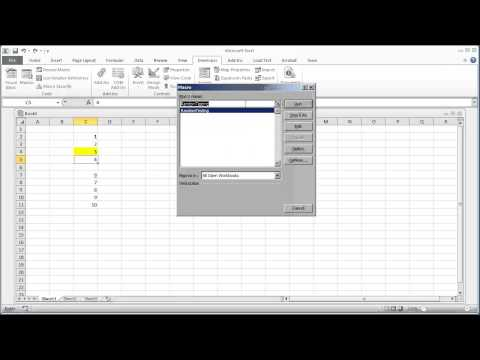 VBA Programming for Excel 2010 -- V1.06 - Editing a Macro in the Visual Basic Editor -- Free Beginners Tutorial