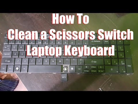 How To Clean a Scissors Switch Laptop Keyboard