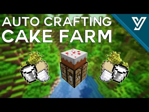Fast CAKE FARM for Minecraft 1.12 [Auto Crafting]