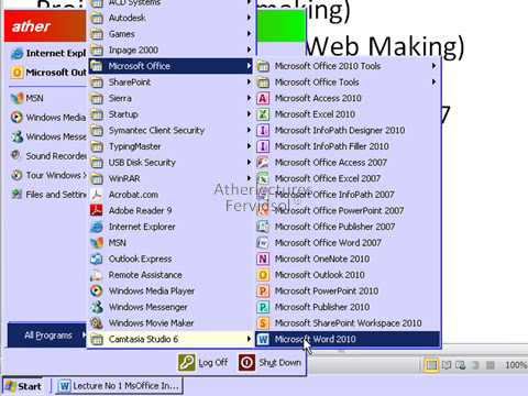 MS office 2010: Introduction to MS office Basic Training in Urdu Lecture 1
