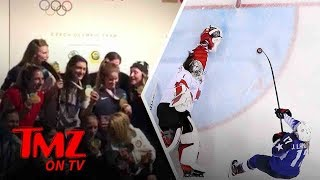 U.S. Womens National Hockey Team Turns Up!   TMZ TV