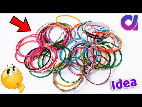 How to reuse old bangles at home | Best out of waste | cool craft idea | Artkala 512