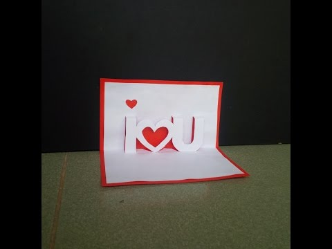 Pop-up Card 3d - Ideas For Valentine's Day - Craft Tutorial