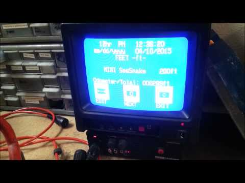 How to Change Time, Date and Footage On Ridgid Mini SeeSnake Camera