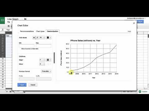 Create a Line Graph with Google Sheets
