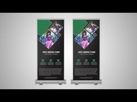 Print Ready Roll Up Banner Design - Adobe Illustrator Tutorial