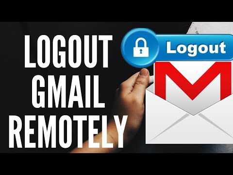 How to logout my Gmail account from other place or computer on remotely