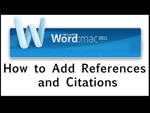 How to Add References and Citations in Word 2011 for Mac without External Software