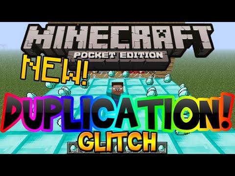 Minecraft Pocket Edition Duplication Glitch (Unlimited Diamonds, Gold, & Iron Tutorial)