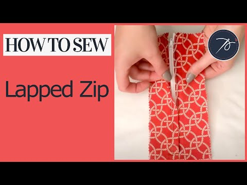 How to Insert a Lapped Zip