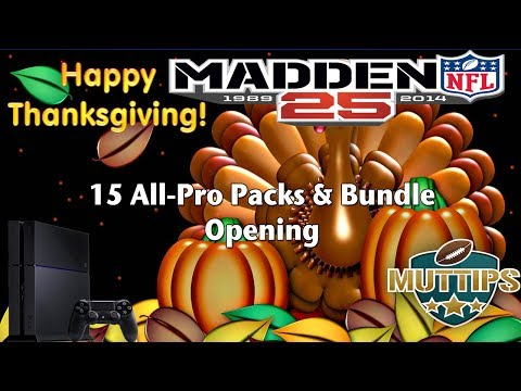 Madden 25 Ultimate Team | Thanksgiving 15 All Pro Packs Bundle Opening | MUT Tips