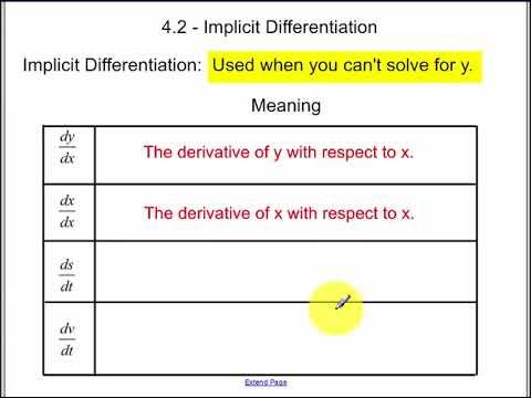 4.2 - Implicit Differentiation (2017B)