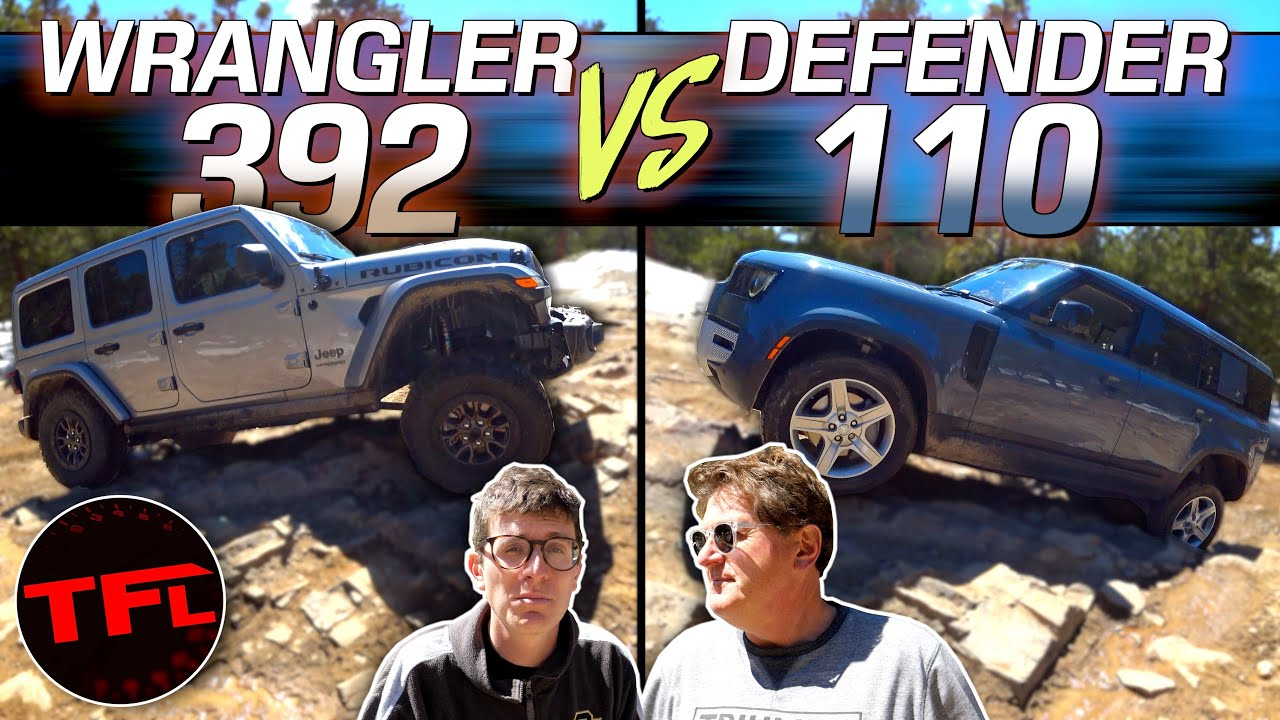 If You Think The New Defender Isn't An Off-Roader Watch It Take On The New V8 Jeep Wrangler