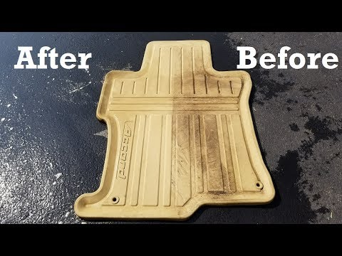How to Clean Rubber Car Mats