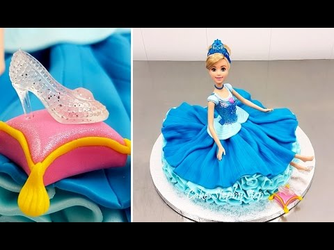 Disney Princess Cinderella Doll Cake How To Make by Cakes StepbyStep