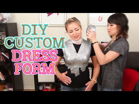 How To Make Your Own Custom Dress Form // DIY DUCT TAPE DRESS FORM!