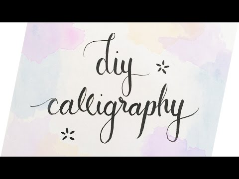 DIY Calligraphy (3 Easy Ways) // Haley Ivers