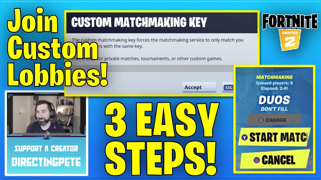 How to join Custom Lobbies in Fortnite Chapter 2